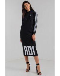 fe30d88fe8e AKIRA Adidas Bold Age Midi Hoodie Dress in Black - Lyst