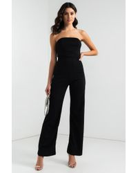 1ad56a874cf Lyst - AKIRA No Stopping This Ride Strapless Jumpsuit in Black