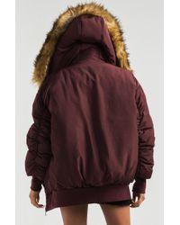 Akira - Brown Be Present Faux Fur Hood Puffer Coat - Lyst