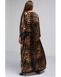 Akira - Brown Issa Bout Time Leopard Print Duster - Lyst
