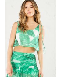 eea999264d537 Lyst - AKIRA Oceans Away Sleeveless Crop Top in Green