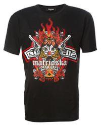 DSquared²   Black 'marioska For Hell' Print T-shirt for Men   Lyst