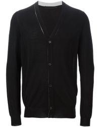Alexander McQueen | Black V-neck Cardigan for Men | Lyst