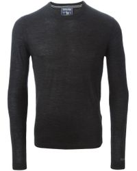 Woolrich | Black Crew Neck Sweater for Men | Lyst