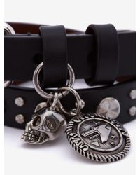 Alexander McQueen - Black Double-wrap Bracelet for Men - Lyst