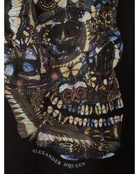 Alexander McQueen - Black Moth Skull T-shirt for Men - Lyst