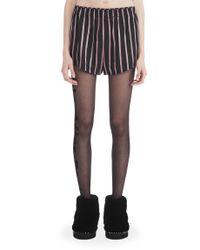 Alexander Wang - Purple Striped Pajama Shorts - Lyst