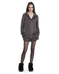 Alexander Wang - Purple Long Sleeve Striped Pajama Top - Lyst