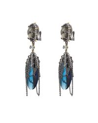 Alexis Bittar | Blue Draped Chain And Crystal Earrings | Lyst