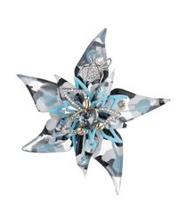 Alexis Bittar - Multicolor Crystal Encrusted Abstract Flower Pin - Lyst