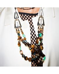Alexis Bittar | Metallic Abstract Buckle Beaded Necklace You Might Also Like | Lyst