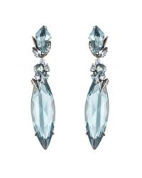 Alexis Bittar - Blue Large Marquis Quartz And Sapphire Cluster Aqua Drop Earring You Might Also Like - Lyst