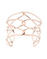 Alexis Bittar | Metallic Liquid Rose Gold Barbed Cuff | Lyst