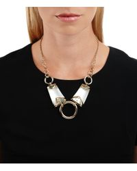 Alexis Bittar - Metallic Three Ringed Bib Necklace You Might Also Like - Lyst