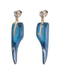 Alexis Bittar - Blue Abstract Thorn Dangling Post Earring - Lyst