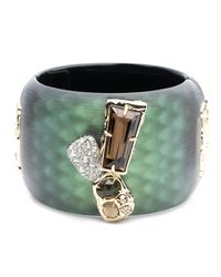Alexis Bittar - Green Wide Lucite Hinge Bracelet With Rocky Stone And Pave Detail You Might Also Like - Lyst