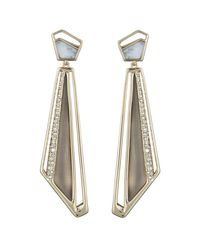 Alexis Bittar - Multicolor Crystal Encrusted Dangling Spoked Post You Might Also Like - Lyst