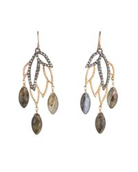 Alexis Bittar | Metallic Lacy Leaf Chandlier Earring You Might Also Like | Lyst