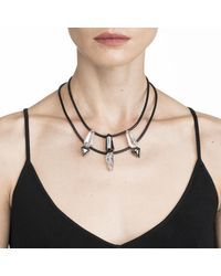 Alexis Bittar - Multicolor Fancy Cut Shield With Leather Necklace You Might Also Like - Lyst