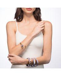 Alexis Bittar - Purple Skinny Tapered Bangle Bracelet - Lyst