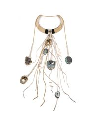 Alexis Bittar - Black Druzy And Multi Long Leather Strand Collar Necklace You Might Also Like - Lyst