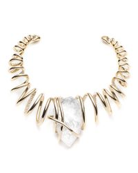 Alexis Bittar | White Encrusted Spiral Caged Clear Crystal Nugget Collar You Might Also Like | Lyst