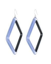 Alexis Bittar - Blue Geometric Lucite Drop Earring You Might Also Like - Lyst