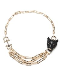 Alexis Bittar | Black Crystal Encrusted Panther Chain Link Necklace You Might Also Like | Lyst
