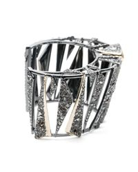 Alexis Bittar | Multicolor Two Tone Crystal Encrusted Origami Cuff You Might Also Like | Lyst