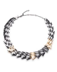 Alexis Bittar | Multicolor Two-tone Origami Link Necklace You Might Also Like | Lyst
