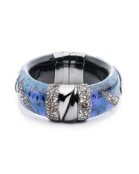 Alexis Bittar | Blue Crystal Encrusted Origami Inlay Hinge Bracelet You Might Also Like | Lyst