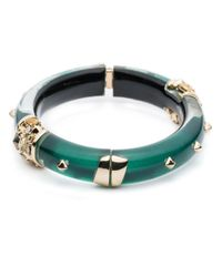 Alexis Bittar | Green Golden Studded Hinge Bracelet You Might Also Like | Lyst