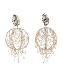 Alexis Bittar | Black Crystal Lace Dangling Sphere Clip Earring You Might Also Like | Lyst