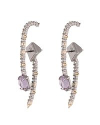 Alexis Bittar | White Crystal Lace Ear Hook Jacket Earrings You Might Also Like | Lyst