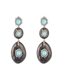 Alexis Bittar - Multicolor Crystal And Stone Studded Dangling Post Earring You Might Also Like - Lyst