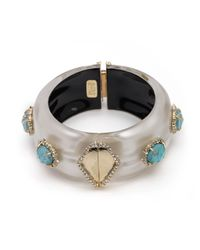 Alexis Bittar | Metallic Liquid Silk And Stone Hinge Bracelet You Might Also Like | Lyst