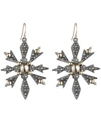Alexis Bittar - Metallic Crystal Encrusted Snowflake Wire Earring You Might Also Like - Lyst