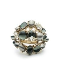Alexis Bittar | Metallic Arrayed Stone Cocktail Ring You Might Also Like | Lyst