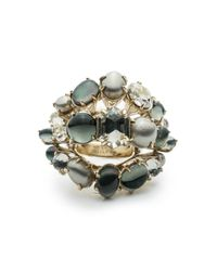 Alexis Bittar - Metallic Arrayed Stone Cocktail Ring You Might Also Like - Lyst