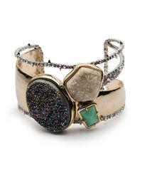 Alexis Bittar - Metallic Druzy Stone Cluster Cuff Bracelet You Might Also Like - Lyst