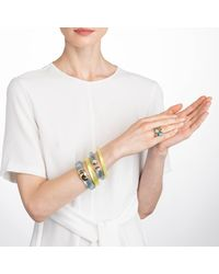Alexis Bittar - Multicolor Liquid Gold Capped Lucite Hinge Bracelet You Might Also Like - Lyst