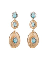 Alexis Bittar - Metallic Crystal And Stone Studded Dangling Post Earring - Lyst