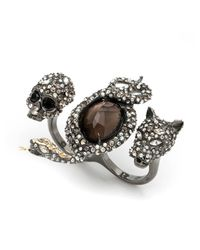 Alexis Bittar - Metallic Crystal Skull, Snake And Panther Ring You Might Also Like - Lyst