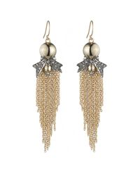 Alexis Bittar - Metallic Crystal Encrusted Starburst Tassel Wire Earring You Might Also Like - Lyst