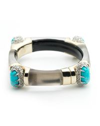 Alexis Bittar - Gray Crystal Encrusted Fancy Cushion Hinge Bracelet You Might Also Like - Lyst