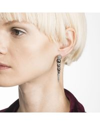 Alexis Bittar - White Crystal Encrusted Dangling Pearl Post Earring You Might Also Like - Lyst
