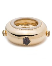 Alexis Bittar - Multicolor Leather Laced Druzy Studded Bangle Bracelet You Might Also Like - Lyst