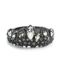 Alexis Bittar White Gunmetal Jagged Marquis Crystal Cluster Ring You Might Also Like
