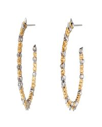 Alexis Bittar - Metallic Gold Muse D'or Two-tone Hoop Earring - Lyst