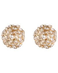 Alexis Bittar - Metallic Jagged Diamond Button Clip Earring - Lyst
